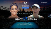 Skrót meczu Brady - Pegula w ćwierćfinale Australian Open