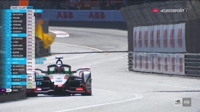 Safety car po kolizji Rasta w E-Prix Monako