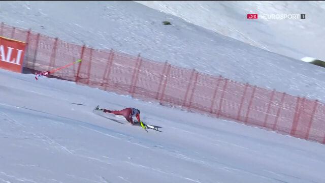 Fatalny upadek Schneeberger w supergigancie w Val di Fassa
