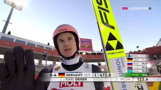 Niemcy na 1. miejscu po 1. serii konkursu drużyn mieszanych w MŚ