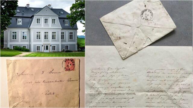 Remontował pałac, pod nogi spadła mu koperta. Był w niej list sprzed 134 lat