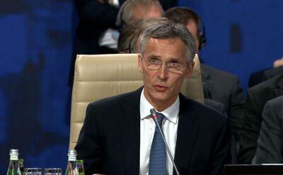 Szef NATO na rozpoczęciu szczytu w Warszawie