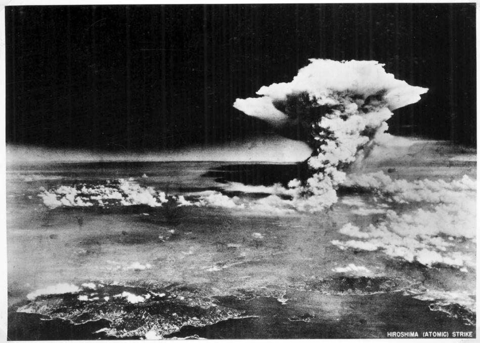 Zdjęcie wybuchu bomby 6 sierpnia 1945 roku, który zabił dziesiątki tysięcy ludzi