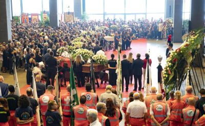 State funeral of the victims of the disaster in Genoa