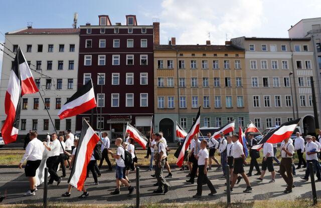 Neonaziści maszerowali przez Berlin