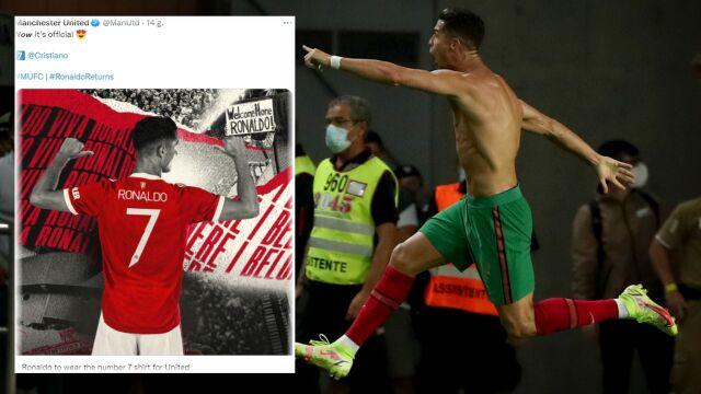 """Rewolucji nie będzie. Ronaldo """"siódemką"""" Manchesteru United"""