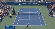 Świątek przełamała Loeb w 7. gemie 2. seta meczu 1. rundy US Open