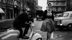 Fotograf Eustachy Kossakowski i Joanna Matylda Fiszer, 1960.