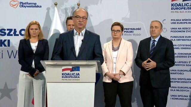 Czarzasty: w Koalicji Europejskiej jesteśmy gwarantami spraw socjalnych