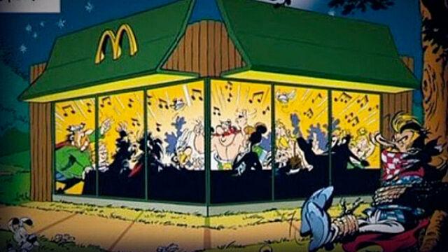Asterix reklamuje McDonalda