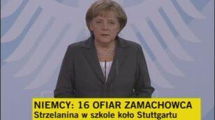 Angela Merkel: Niemcy są wstrząśnięci (TVN24)