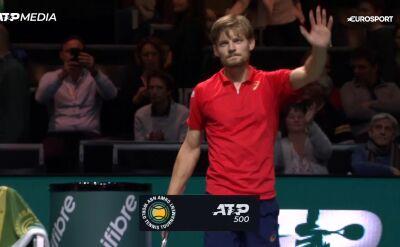 Goffin przezwyciężył chwile słabości i awansował do 2. rundy turnieju ATP w Rotterdamie