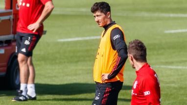 Krótka wizyta Lewandowskiego na treningu Bayernu
