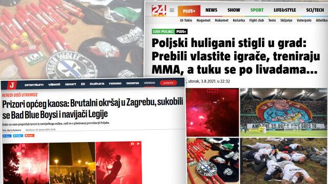 """Zamieszki na ulicach Zagrzebia. """"Przyjechali polscy chuligani"""""""