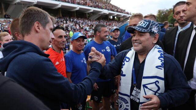 """Prezes Maradona powitany. """"Mam nadzieję, że Łukaszenka zostanie naszym kibicem"""""""