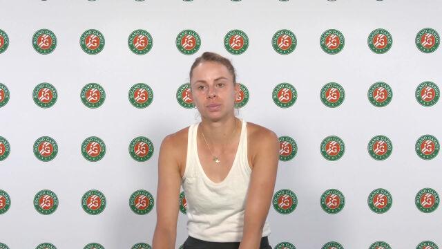 Linette po meczu 3. rundy gry podwójnej w Roland Garros