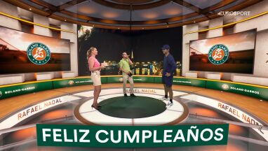 Urodziny Nadala w studiu Eurosportu.