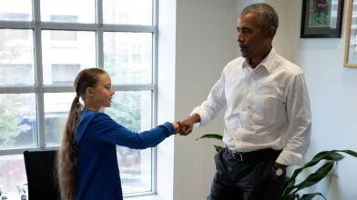 """Wystąpienie w Kongresie USA, """"żółwik"""" z Obamą. Jutro mają z nią strajkować młodzi w 139 krajach"""