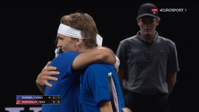 Federer i Zverev pokonali parę Sock/Shapovalov w Pucharze Lavera