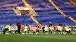 Trening Manchesteru City przed meczem z Szachtarem
