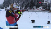 Ostatnie strzelanie w biegu pościgowym kobiet w Hochfilzen