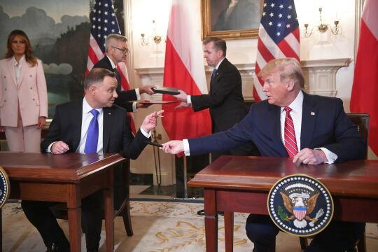 Andrzej Duda i Donald Trump podpisali deklarację o współpracy obronnej
