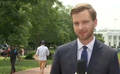 Reporter TVN24 o wizycie Andrzeja Dudy u Donalda Trumpa