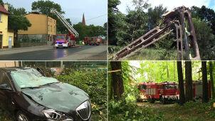 Silne burze i wiatr w całym kraju. Strażacy interweniowali ponad tysiąc razy