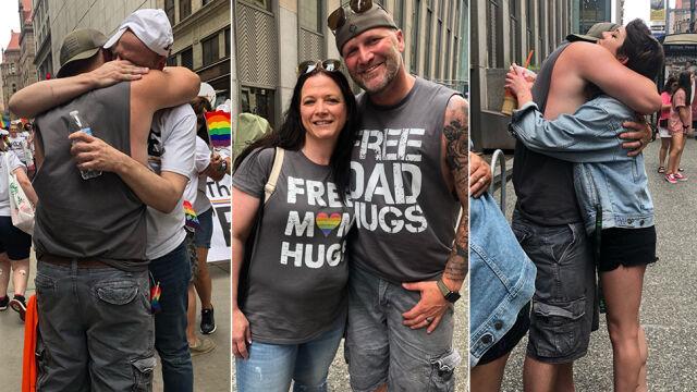 Przytulał, dawał wsparcie na paradzie równości. Napisał apel do rodziców osób LGBTQ
