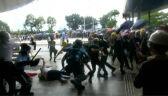 Hongkońska policja użyła w środę gazu łzawiącego wobec protestujących demonstrantów