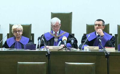 Sędzia sprawozdawca: postępowanie ulega zawieszeniu z mocy ustawy