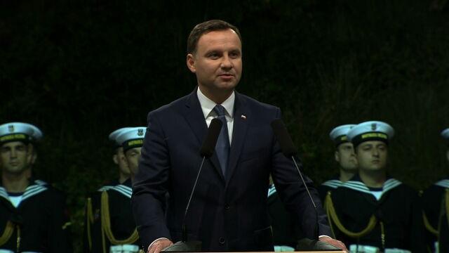 Całe przemówienie Andrzeja Dudy na Westerplatte
