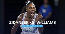Skrót meczu Tamara Zidansek - Serena Williams w 2. rundzie Australian Open