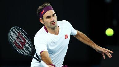 Federer trenuje w śnieżnej scenerii