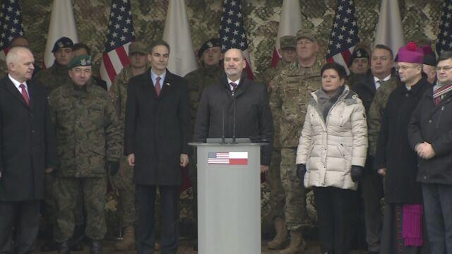 Macierewicz do żołnierzy USA: jesteście tu, by bronić wolności
