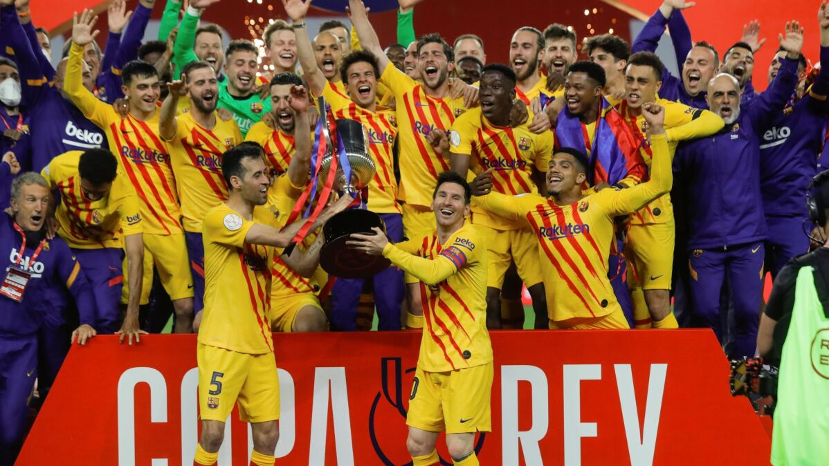 Cztery gole w dwanaście minut. Barcelona z Pucharem Króla