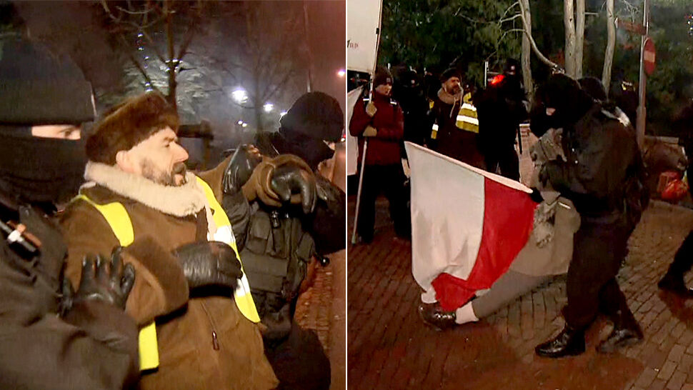 """Policja interweniuje przed Sejmem o 4 rano. """"Działaliśmy na wniosek Straży Marszałkowskiej"""""""