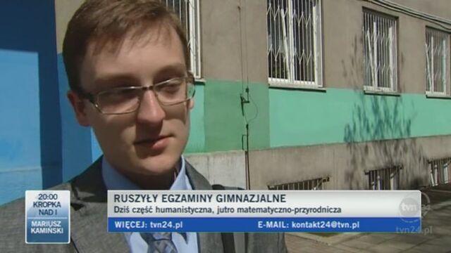 Gimnazjaliści: Polski łatwiejszy od historii i WOS-u. (TVN24)
