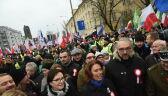 KOD Niepodległości na ulicach Warszawy