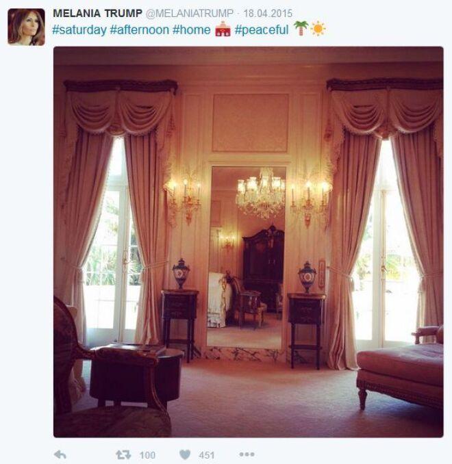 Zdjęcia z konta twitterowego Melanii Trump