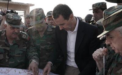 Baszar el-Asad spotkał się z żołnierzami w Idlibie