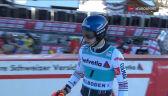 Noel spadł na 8. miejsce po 2. przejeździe slalomu w Adelboden