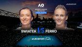 Skrót meczu Świątek - Ferro w 3. rundzie Australian Open