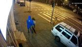 Ewa Tylman i mężczyzna w niebieskiej kurtce. Nagranie z monitoringu z 3:18