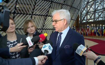 Czaputowicz: Polska nie chce wyłamać się z solidarności
