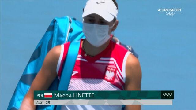 Tokio. Skrót meczu Linette – Sabalenka w 1. rundzie turnieju tenisowego