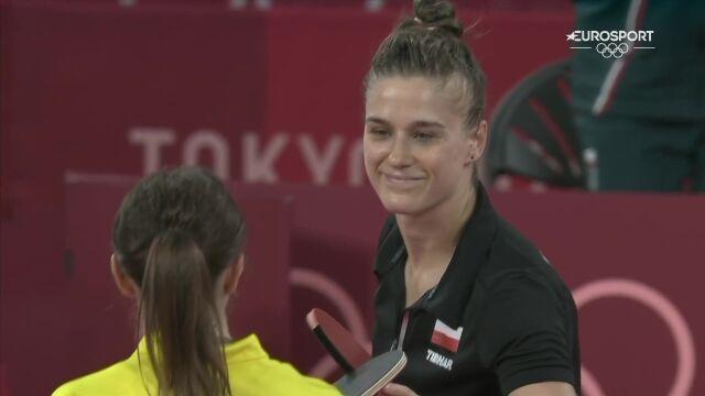 Tokio. Partyka zwyciężyła w meczu z Bromley w tenisie stołowym kobiet