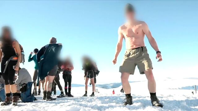 Some people just have learn the hard way. Tourists wanted to top a mountain half-naked