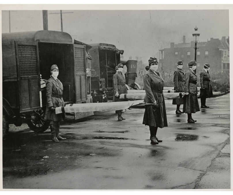 St Louis Red Cross Motor Corps na służbie, październik 1918