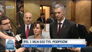 Kluzik-Rostkowska: Mamy już 1,7 mln podpisów